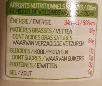 Huile De Coco - Nutrition facts - fr