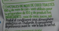 Pétales de coco - Ingrédients - fr