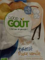 Gourde Brassé poire vanille-Good Gout-90g - Product - fr