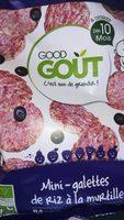 Mini Galettes de riz à la myrtille-Good Gout-40g - Product - fr