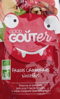 Gourde Fraises Cranberries Noisettes-Good Goût-90g - Product - fr