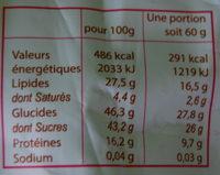 Macarons d'Antan Chocolat Intense - Voedigswaarden