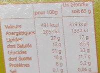 Caramel et noix de cajou - Nutrition facts - fr