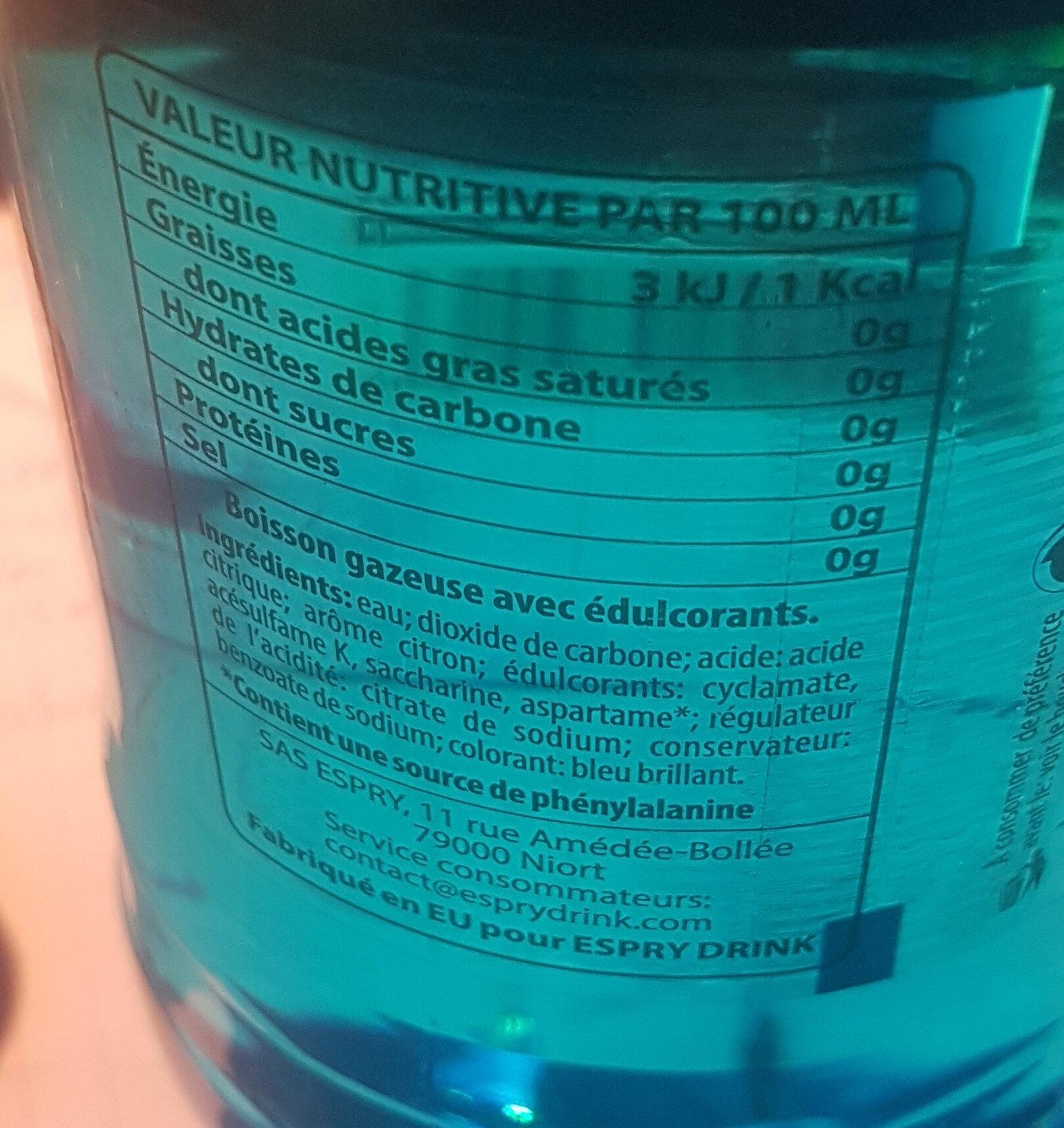 Lime drink - Ingrédients - fr