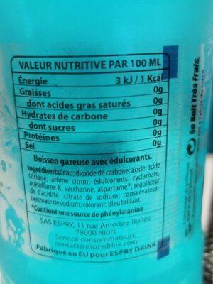 Lime drink - Informations nutritionnelles - fr