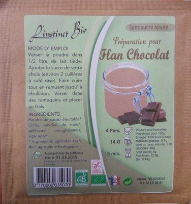 Préparation pour Flan Chocolat - Produkt - fr