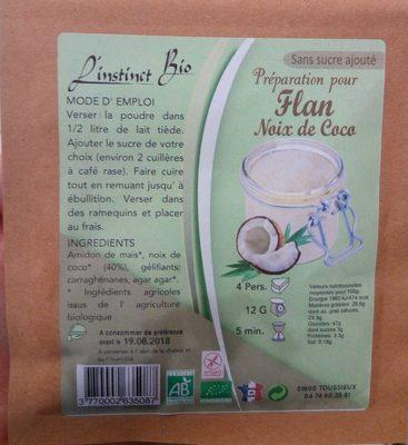 Préparation pour flan noix de coco - Produit