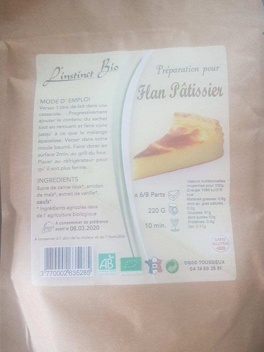 Flan Pâtissier - Ingredients
