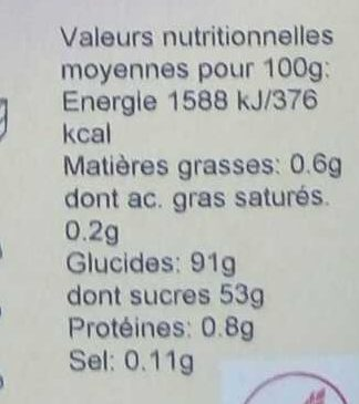 Flan Pâtissier - Nutrition facts