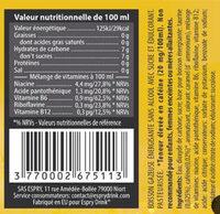 Espry Drink - Informació nutricional - fr