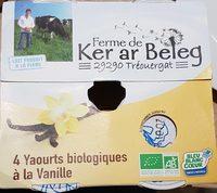 Yaourts biologiques à la vanille - Product