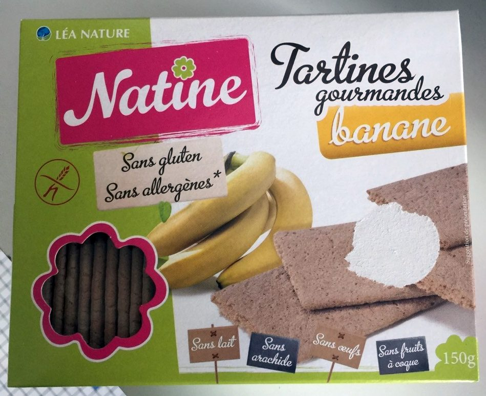 Tartines Gourmandes Banane - Product