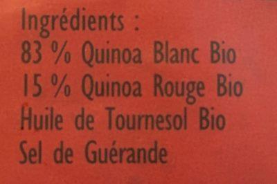 Epicerie / Céréales, Graines, Pâtes, Riz / Quinoa Bio - Ingrediënten - fr