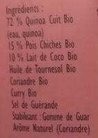 Express Quinoa & Pois chiches à l'indienne - Ingrédients - fr