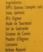 Express Quinoa au Curcuma - Ingrédients - fr