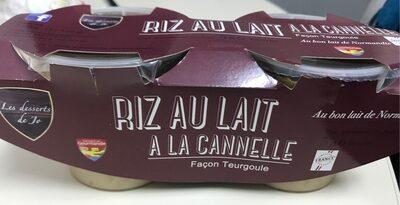 RIZ AU LAIT A LA CANELLE - Product - fr