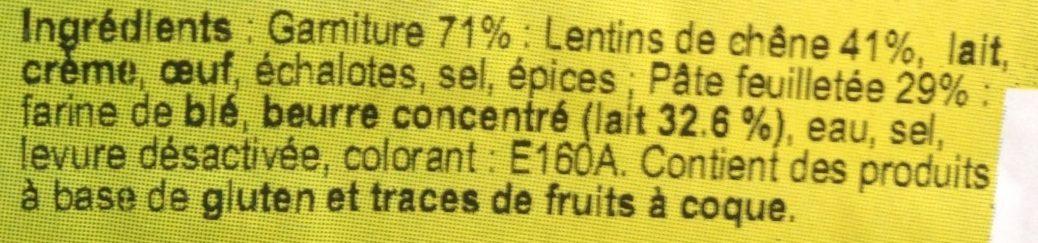 La tourte asiatique - Ingrédients - fr