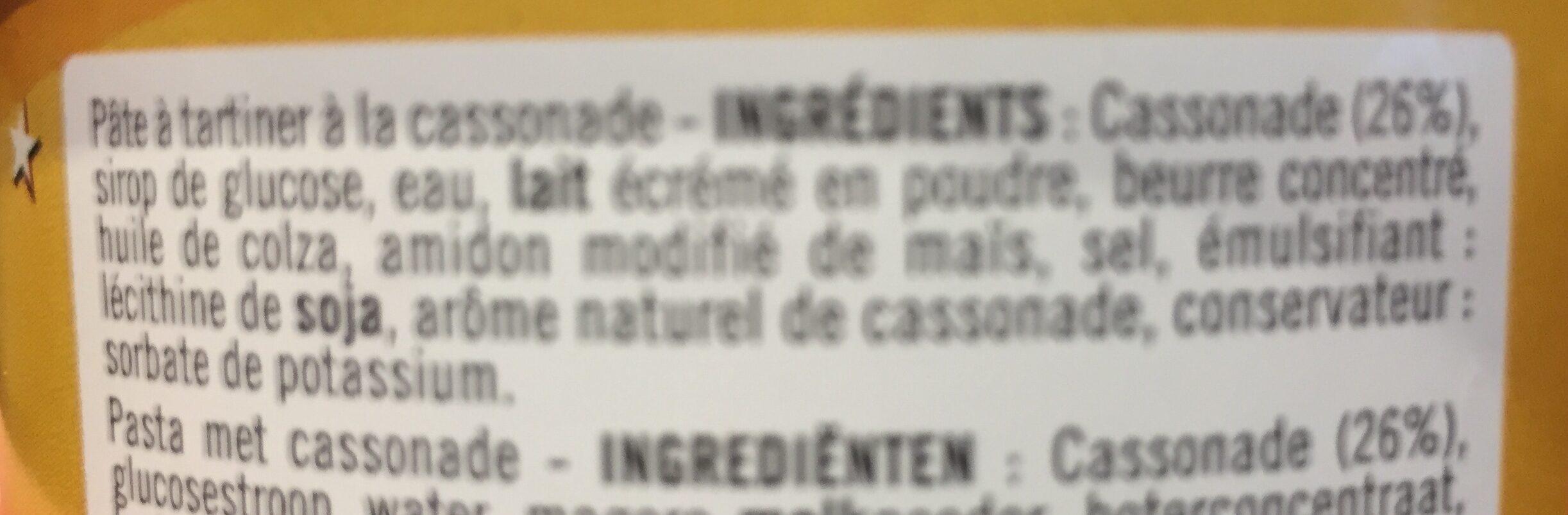 Pate a tartiner a la cassonade - Ingrediënten