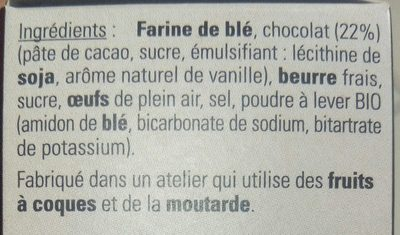 Biscuits au Chocolat - Ingredients