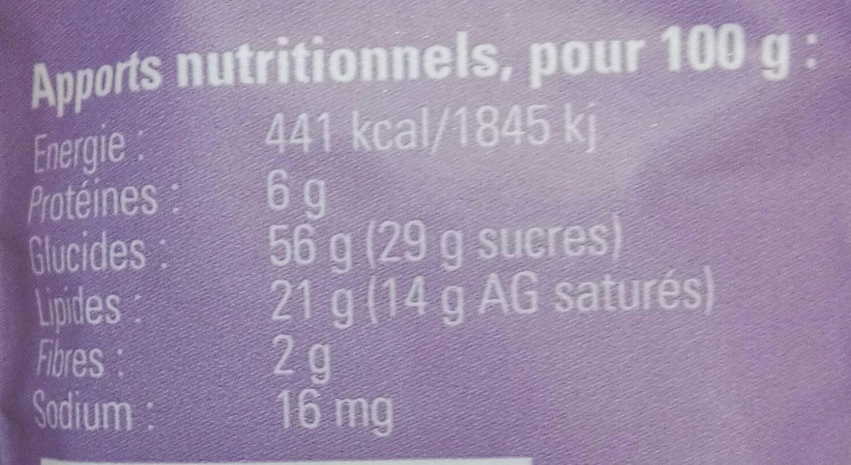 Biscuits au Safran du Gâtinais - Nutrition facts