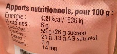 Biscuits a l'épeautre du Mantois - Nutrition facts