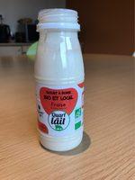 Yaourt à boire bio et local - Fraise - Product