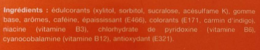 Chewing-gum energisant - Ingredients - fr