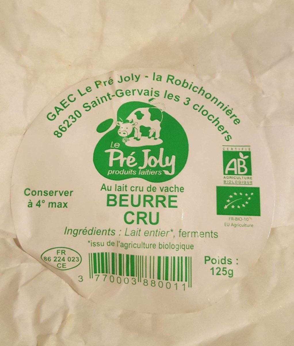 beurre cru - Produit - fr