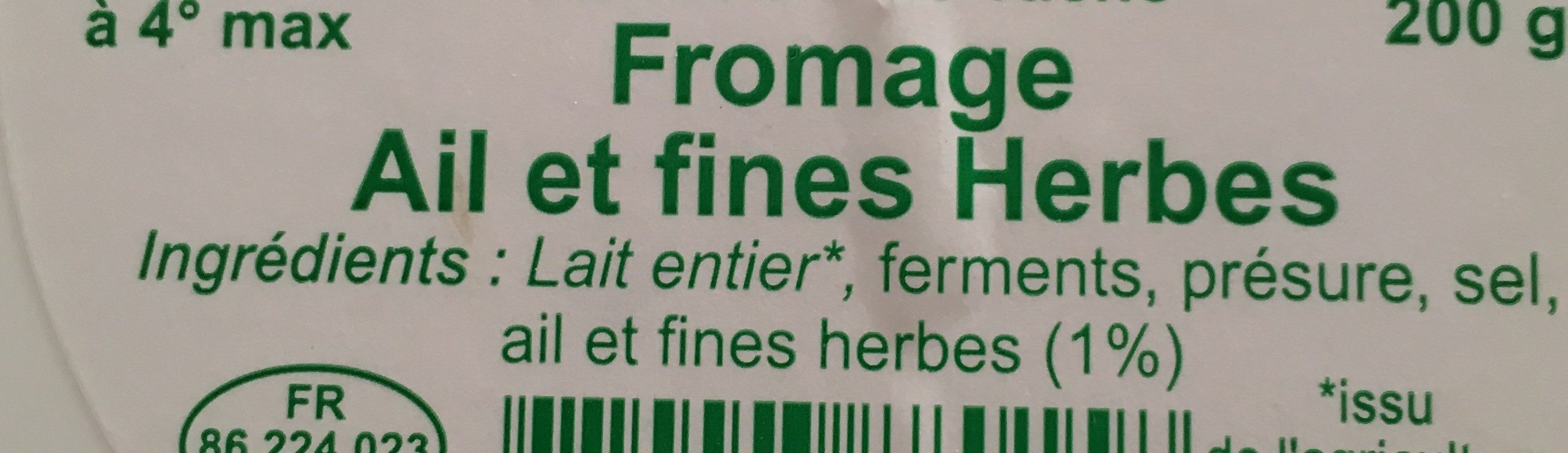 Fromage ail et fines herbes - Ingrediënten - fr