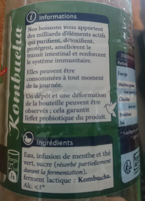 kombucha - Ingredients - fr