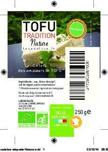 Tofu nature - Ingrediënten