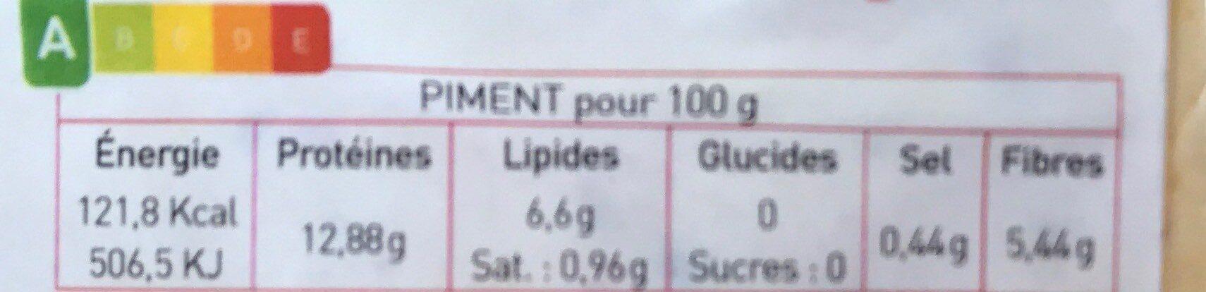 Tofu Piment d'espelette & ail des ours - Voedingswaarden - fr