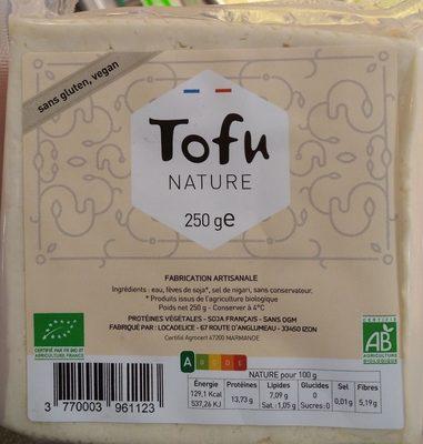 Tofu nature bio - Produit