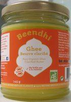 Ghee Bio - Beurre clarifié à l'indienne - Produit