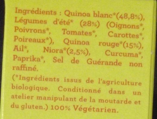 Duo de Quinoa Alicante - Ingrediënten