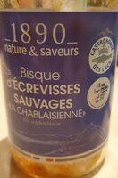 """Bisque d'écrevisses sauvages """"la Chablaisienne"""" - Product - fr"""