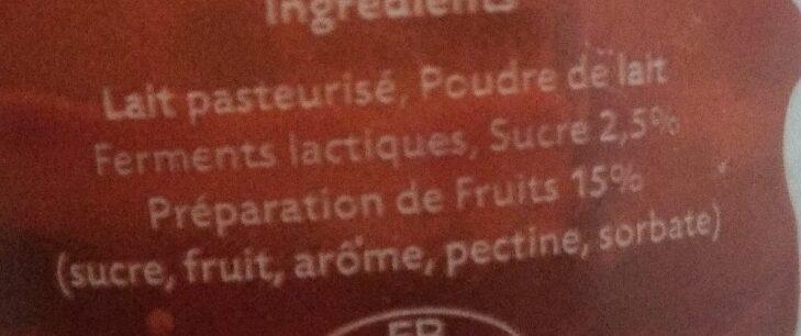 Le yaourt aux fruits de Montbéliard - Ingredients