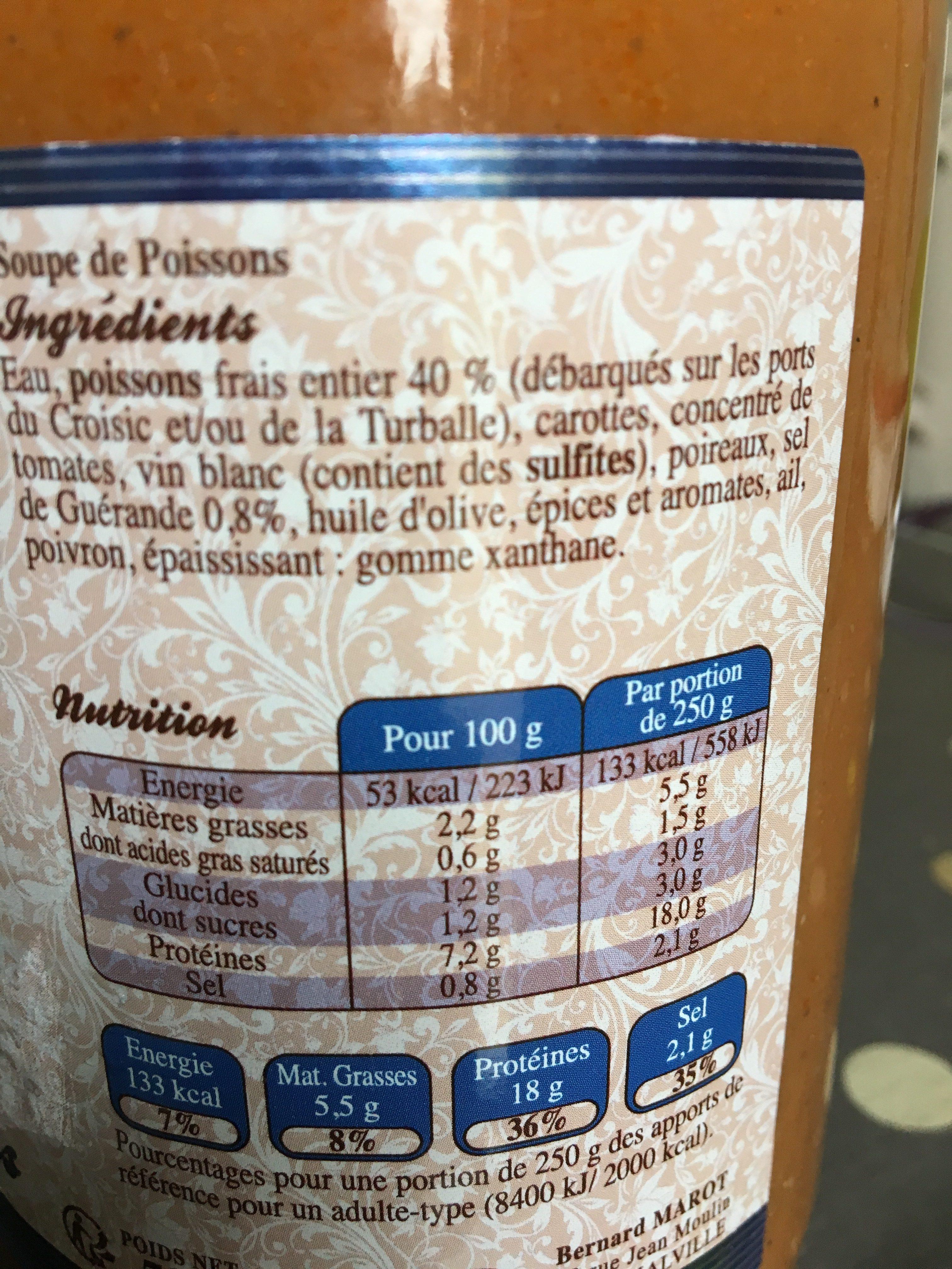 Soupe des ports du Croisic et de La Turballe - Ingredientes - fr