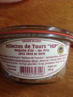 Rillettes de Tours «IGP» - Ingrédients - fr