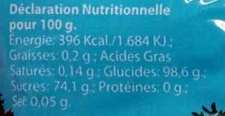 Les pépites du Canigou - Nutrition facts