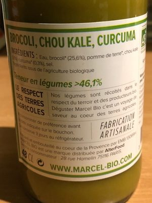 soupe artisanale - Ingredienti - fr