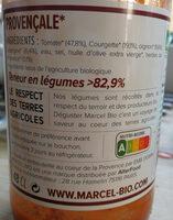 Marcel Bio soupe Provencale - Ingredienti - fr