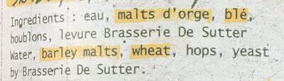 Blonde IPA - Ingredienti - fr