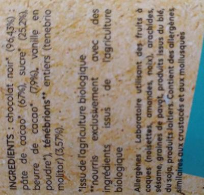 Chocolat Noir Ténébrio - Ingredients - fr