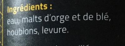 Blonde - Ingredients - fr