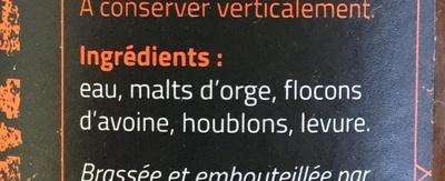 Ambrée - Ingredients - fr