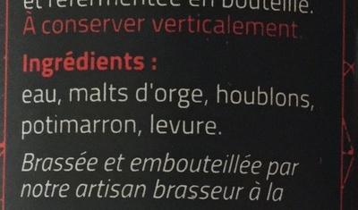 Nez Croc Shuc - Ingrédients