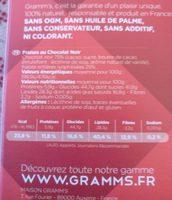 Fraises chocolat noir - Voedingswaarden