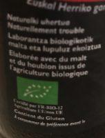 Eusk'ale - biere brune - Ingrediënten