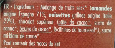 Tartinades Choconoisette - Ingrédients - fr